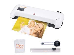 Thermal Laminator  A4 Laminating Machine for HomeOfficeSchool Quickly Heat Up 9 Inch Hot and Cold Lamination Machine Includes 25 Laminating PouchesPaper Trimmer and Circle Cutter L409A