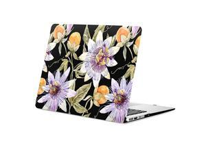 Black Case Compatible with Macbook Air 133 Inch Case A1466 A1369 Older 20102017 Release Vintage Flower Pattern Hard Shell Case with Keyboard Cover for Macbook Air A1466A1369 Protective Case