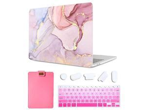 Case for MacBook Pro 16 inch 2019 A2141 Plastic Pattern Hard Shell Laptop Sleeve Bag Gradient Keyboard Cover Compatible with Mac Pro 16inch Touch Bar 4 in 1 Bundle Creative Marble 3