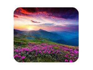 Purple Flowers Meadow Mountain Scenic Large Mousepad Mouse Pad Great Gift Idea