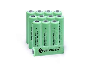 Solar Light AA NiCD 800mAh Rechargable BatteriesAA Rechargeable Batteries for Solar Lights Solar LampPack of 12