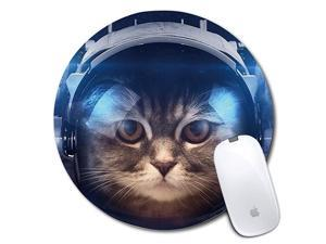 Round Mouse Pad Printed Cat Pattern NonSlip Rubber Comfortable Customized Computer Mouse Pad 787x787inch