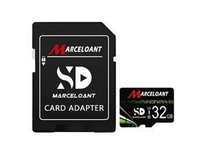 TF Card 32GB  Micro SD Memory Cards Class 10 TF Card with Adapter High Speed Memory Card for Phone Camera Computer BlackGreen Standard Packaging 32GB