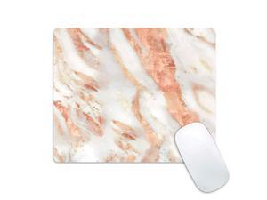 Gaming Mouse Pad Rose Gold Marble Design Mousepad Non Slip Rubber Mouse Mat Rectangle Mouse Pads for Computers Laptop Starry Sky