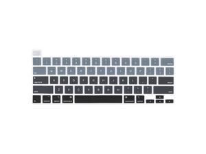 Keyboard Cover for Newest MacBook Pro 13 2020 A2338 M1A2289A2251 Model MacBook Pro 16 2020 2019 A2141 Model Waterproof DustProof Protective Keyboard Skin Gradient Grey