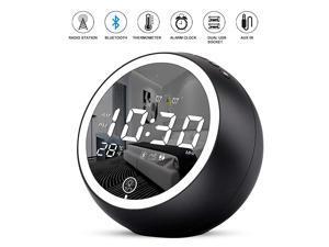 Alarm Clock RadioBluetooth V50HiFi SpeakerDual Alarms with SnoozeDigital Display with dimmerDual USB Output PortsFM Radio with Sleep TimerNight LightClock for bededrooms