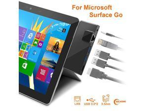 Surface Go Docking Station USB C Hub HDMI Adapter 5 in 1 Type C Hub with 1000M RJ45 Ethernet 4K USB C to HDMI 2 USB 30 Ports AudioMic OutputHeadset for Microsoft Surface Go2018