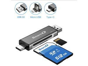 C256 Micro SD Card Reader to USB Adapter USBC and USB A USB Memory Card Reader USB 20 Super Speed for MicroSDXC MicroSDHC SD SDXC SDHC SD Cards Works for Windows Mac OS X Android