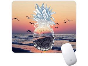 Mouse Pad Mousepad NonSlip Rubber Gaming Mouse Pad Rectangle Mouse Pads for Computers Laptop Sunset Pineapple