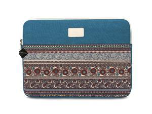 Inch Bohemian Canvas Protective Laptop Sleeve Bag Notebook Case Cover for MacBook Chromebook Acer Dell HP Samsung Sony Horizontal Blue