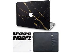 4 in 1 Laptop Case for MacBook Pro 16 Touch Bar 20202019 A2141 Hard Shell Cover Sleeve Keyboard Cover Screen Protector Black Gold Marble