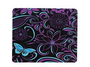 Purple Flower Anti-Slip Mouse Pad Mice Pad Mat Mousepad For Office, Computer, Laptop & Mac Optical Laser Mouse- Durable & Comfortable & Lightweight For Easy Typing & Pain Relief MP-029