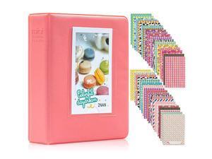64 Pockets Mini Photo Album for Fujifilm Instax Mini 7s 8 8+ 9 25 26 50s 70 90 Instant Camera amp Name Card 64 Pockets Dark Pink2