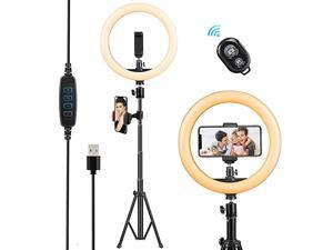Light with Tripod Stand102 Phone Stand for RecordingPhone Tripod with LighDimmable Beauty for Live StreamMakeupYouTube VideoTikTokCompatible with iPhone Android Cell Phone Holder