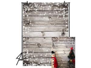 5X7FT Grey Wood Snowflakes Photograghy Backdrop Customized Studio Christmas Background Studio Photo Booth Props AJS16