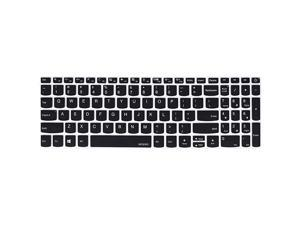 Keyboard Cover Skin Compatible with Lenovo IdeaPad 320 330 330s 340s 520 720s 130 S145 L340 S340 15.6 inch, 2019 2018 Lenovo IdeaPad 15.6 inch, Lenovo IdeaPad 320 330 17.3 inch Laptop, Black