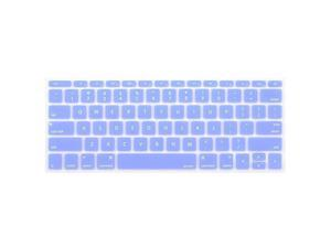 Silicone Keyboard Cover Protective Skin Compatible with MacBook Pro 13 inch 2017 2016 Release A1708 Without Touch Bar MacBook 12 inch A1534 Serenity Blue