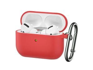 for Airpods Pro CaseSoft Silicone Skin Cover ShockAbsorbing Protective Case with Keychain for Apple Airpods Pro Front LED Visible