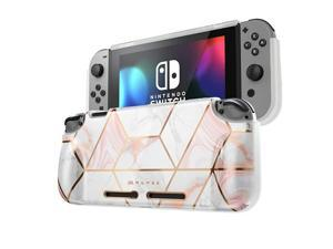 Protective Case for Nintendo Switch Girl Power Soft TPU Grip Case Cover for Nintendo Switch Console with ShockAbsorption and AntiScratch Marble