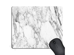 White Marble Mouse Pad Cute Mat White Grey Rectangle Mouse Pads