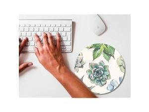 Cute Succulent Cactus Plant Round Mouse pad Gaming Mouse Pad Rubber Round Mouse Mat787inchx787inch