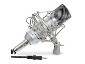 Cardioid Condenser Microphone XLR Noise Deduction 360 Degree UniDirectional Voice Recording with Mount amp Windscreen for PC Gaming Broadcasting Podcasting Studio YouTube amp Tiktok Video