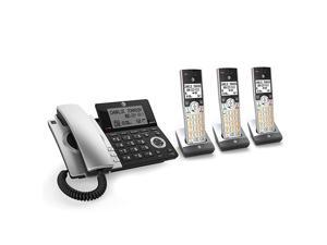 CL84307 Dect 60 Expandable CordedCordless Phone with Smart Call Blocker SilverBlack with 3 Handsets