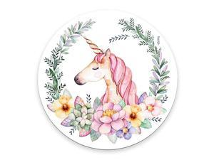 Pink Unicorn Round Mouse pad Watercolor Unicorn Mouse Pads 787quotX787quot 20CM