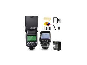 V860II-N i-TTL 2.4G High Speed Sync 1/8000s GN60 Li-ion Battery Camera Flash Speedlite Light Compatible for Nikon Cameras &  XPro-N Wireless Flash Trigger Transmitter