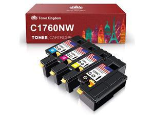 Compatible Cartridge Replacement for Dell 1250 to Work with 1250C 1350CNW 1355CN 1355CNW C1760NW C1765NFW Printer 4 Pack 4PACKS