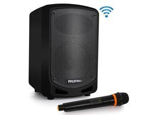 Portable Bluetooth PA Speaker System Indoor Outdoor Karaoke Sound System wWireless Mic Audio Recording Rechargeable Battery USBSD Reader Stand Mount for Party Crowd Control