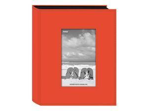 Sewn Leatherette Frame Photo Album Bright Orange