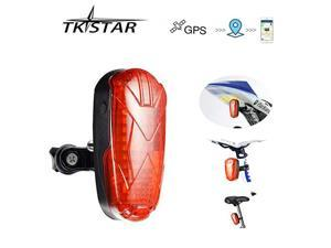 GPS Tracker Designed for Bicycle Small Vehicles Hidden Realtime Track Long Standby SIM Card GPS GSM GPRS Tracking Devices with LED Tail Light Lifetime Free Platform TK906