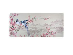 Gaming Mouse Pad with Floral DesignXXL Mousepad354x157x01203cm Thick Desk Pad Keyboard Mat NonSlip Base WaterResistant Plum Blossom 354X157X012in