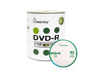 100 Pack DVD-R 4.7gb 16x Logo Blank Data Video Movie Recordable Disc, 100 Disc 100pk