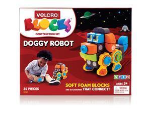 "Velcro Blocks Construction Set Dog Robot 6""Wx10""Lx7-1/10""H Multi 70190"