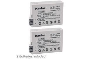 Kastar LP-E8 (2-Pack) Equivalent Battery for Canon EOS 550D,