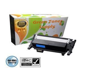 Green Toner Supply (TM) New Compatible [Samsung CLT-C406S] Cyan LaserJet Toner Cartridges for Samsung CLP-365, CLP-365W, CLX-3305FN, CLX-3305FW, CLX-3305W