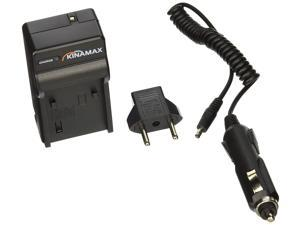 Kinamax Replacement Charger + Car Adapter for Sony Alpha DSLR-A230, DSLR-A330, DSLR-A380 and Sony Cyber-shot DSC-HX1