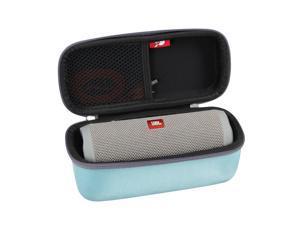 Hermitshell Hard EVA Travel Case Fits JBL Flip 3 / Flip 4 Splashproof Portable Bluetooth Speaker (Teal)