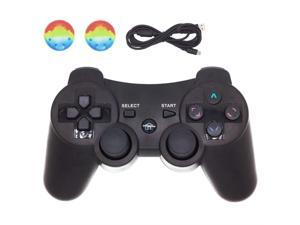 PS3 Controller Wireless,BRHE Bluetooth Dualshock 3 Gamepad PS3 Remote Control Sixaxis Vibration Joystick for Playstation 3 Games with USB Charger Cable New Upgrade Version (Black)