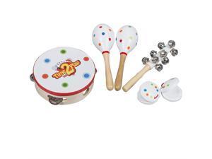Refurbished Hape Mighty Mini Band Rainbow Wooden Musical Instrument Percussion Toy Neweggcom