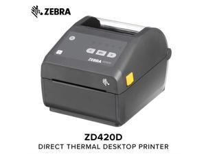 Zebra - GK420d Direct Thermal Desktop Printer for Labels, Receipts,  Barcodes, Tags, and Wrist Bands - Print Width of 4 in - USB and Ethernet  Port