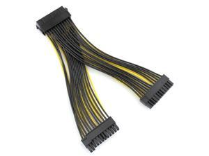 24P 20+4 Pin Dual PSU Power Supply Cable 18AWG 20cm ATX Motherboard Mainboard Adapter Connector Cable Mining Extension Cable