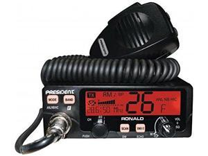 RONALD AMFMPA Ham Transceiver 10 and 12 Meter Amateur Mobile Radio with Rotary Channel Selector RF Power Manual Squelch ASC LCD Display Digital Smeter
