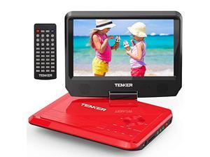 95 Portable DVD Player with Swivel Screen Rechargeable Battery and SD Card Slot USB Port