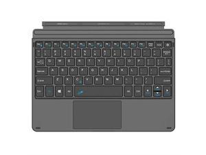 MoKo Type Cover Fit Microsoft Surface Go Black Slim Wireless Bluetooth Keyboard with Trackpad 7-Color LED Backlit Built-in Rechargeable Battery for Surface Go 10 inch 2018 Tablet