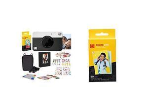 PRINTOMATIC Digital Instant Print Camera Black 2x3 Premium Zink Photo Paper 50 Sheets
