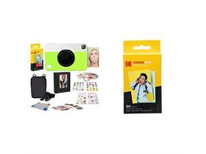 Printomatic Digital Instant Print Camera Neon Green with  2x3 Premium Zink Photo Paper 50 Sheets