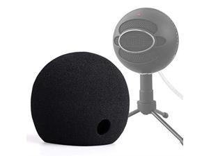 Blue Snowball Pop Filter Foam Cover Blue Snowball Cover Microphone Windscreen Compble with Blue Snowball Ice Microphone Black